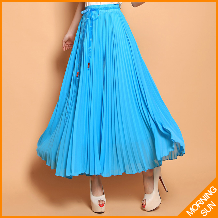 new fashion runway 2015 high quality summer bohemia College Wind Beach Resort elegant pleated big skirt fairy skirt #0241Одежда и ак�е��уары<br><br><br>Aliexpress