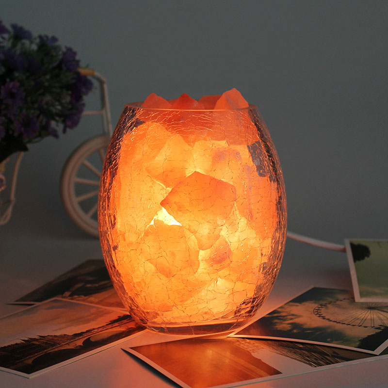 Фотография Crystal salt lamps small night light plug in dimmer table lamp ofhead baby pat lights