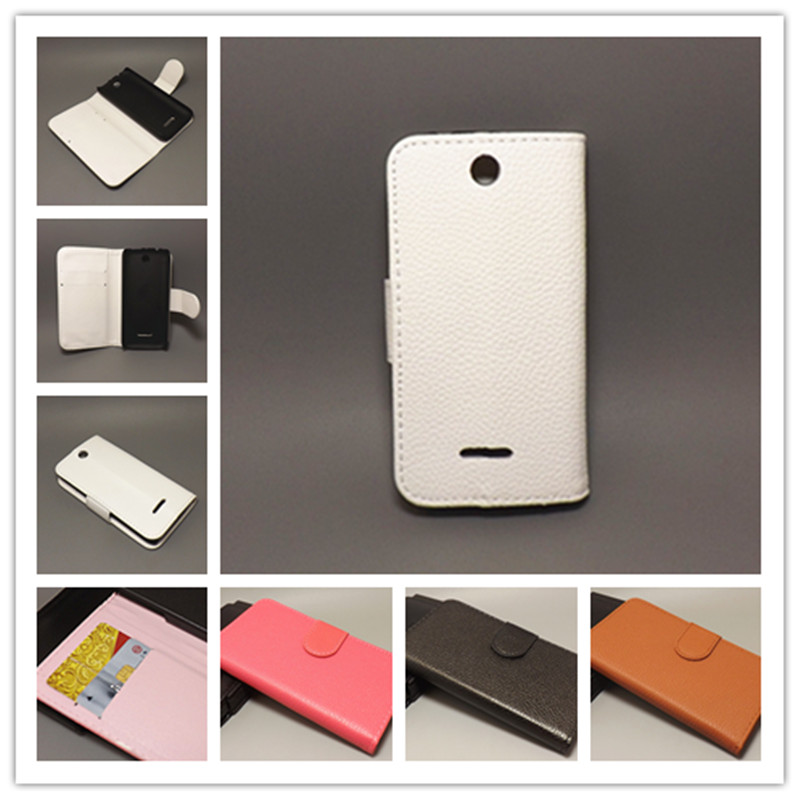 for Nokia 225 Dual SIM/225 Lichi Texture Leather Case Pouch Flip case with 2 Card Holder and pouch slot(China (Mainland))