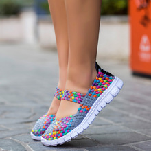 Buy Women Shoes 2017 Summer Breathable Fashion Lady's Casual Shoes Lace Girls Handmade Women Woman Shoes for $12.11 in AliExpress store