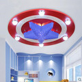 LED 21W 30W America captain creative cartoon male girl eye children room bedroom absorb dome light