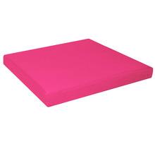 "aa141t - ( Thickness: 3"" inch = 7.5cm ) Light Fuschia Cotton Canvas 3D Box Square Sofa Seat Cushion Cover (1pcs) - custom made(China (Mainland))"