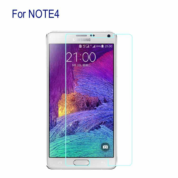 Ultra slim For Samsung Galaxy NOTE4 N9100 NOTE IV Tempered Glass Toughened Glass Screen Protector Film Spanish Russian(China (Mainland))
