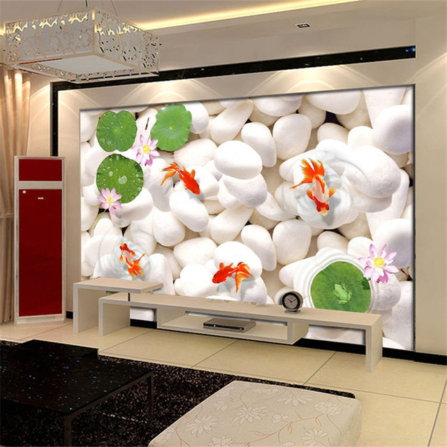 Custom modern 3d wallpaper murals simple and stylish for Mural 3d simple