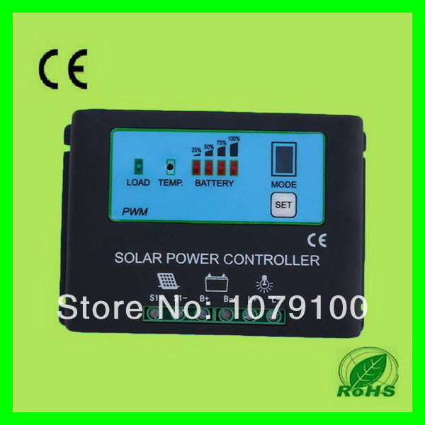 Free Shipping!! New Style Metal Housing Automatic Identification Power Display 30a 12v/24v pwm solar<br><br>Aliexpress
