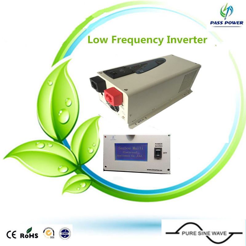 free shipping, LCD display low frequency 48v --240v solar pure sine wave inverter for ice cream machine,air conditioner(China (Mainland))