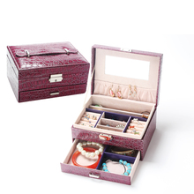 Free shipping Wholesale Korean leather jewelry box storage box candy-colored multifunction jewelry box jewel case for gift(China (Mainland))