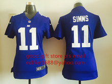 100% stitched WOMEN New York Giants ladies 11 Phil Simms 13 Odell Beckham Jr. 56 Lawrence Taylor 80 Victor Cruz Embroidery Logos(China (Mainland))