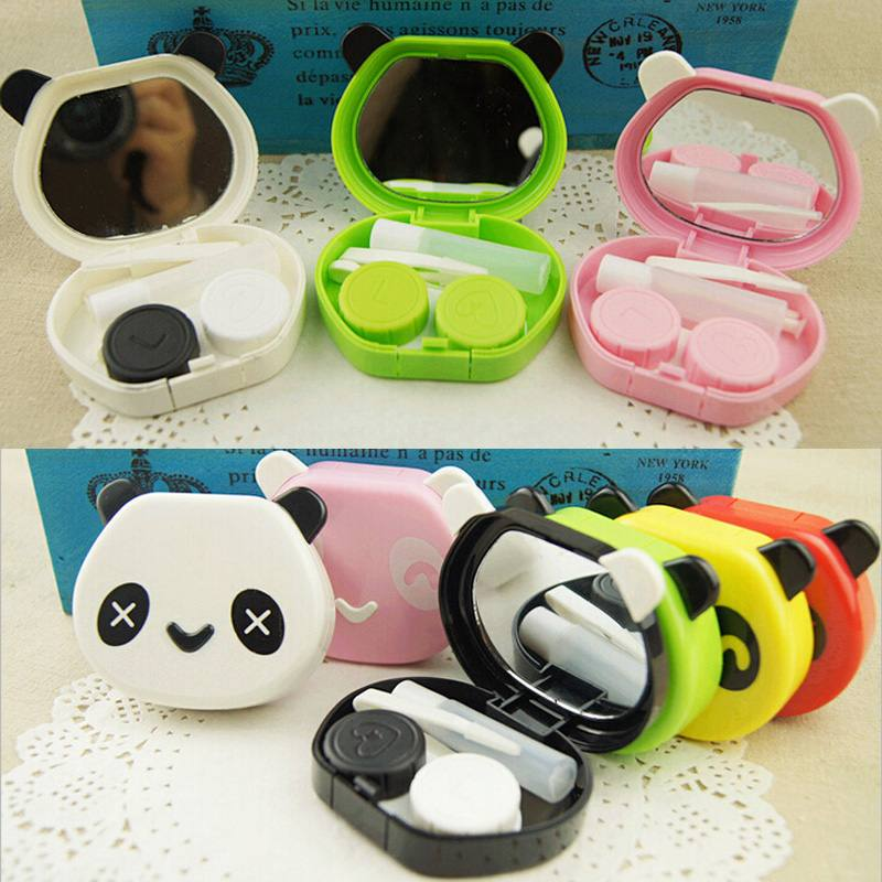 1PCS Free Shipping High Quality Panda Design Travel Kit Cartoon Storage Contact Lens Case Box Container Holder(China (Mainland))