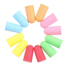 Soft Foam Ear Plugs Tapered Travel Sleep Noise Prevention Earplugs Noise Reduction For Travel Sleeping Random Color Wholesale(China (Mainland))