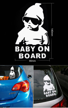,car styling,3D waterproof Baby Board car sticker chevrolet cruze ford focus covers