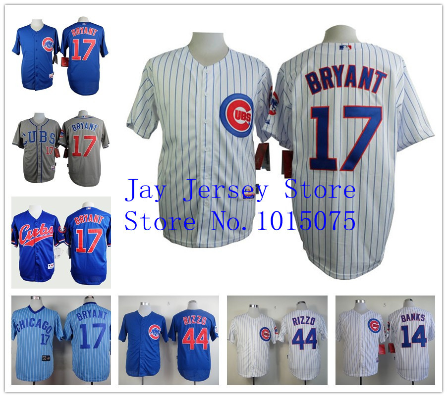 Kris Bryant Jersey Chicago Cubs Ron Santo 13 Starlin Castro 34 Jon Lester(China (Mainland))