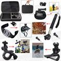 Accessories Bag Kit Monopod Sun Visor Helmet Handlebar for Sony HDR AS15 HDR AS30V HDR AS100V