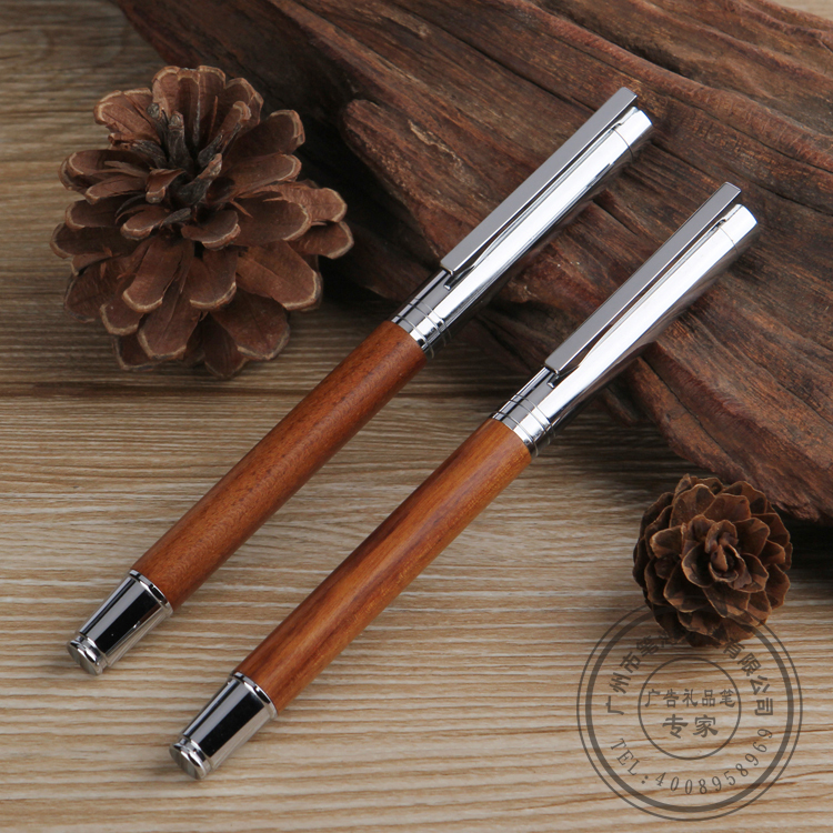 Free shipping Free logo company promotional  Rhinestone engraved Roller Pen  Redwood pen<br><br>Aliexpress
