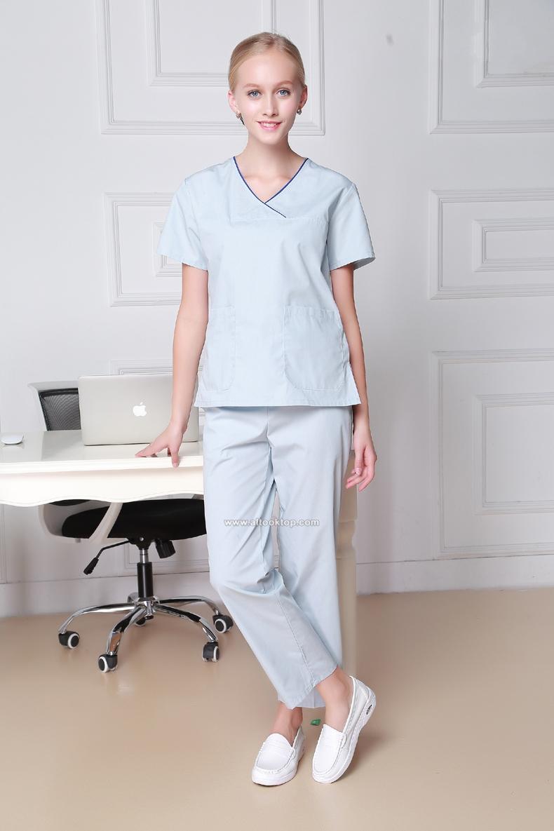 Plus Size Hospital Women Medical Medical Robe Scrub