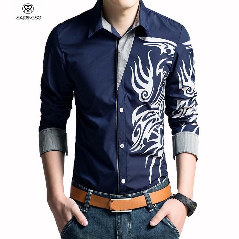 Мужская повседневная рубашка Brand