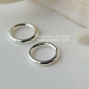 4.5*0.7mm(#A) solid 925 Sterling Silver Closed Jump Rings, Free shipping(China (Mainland))