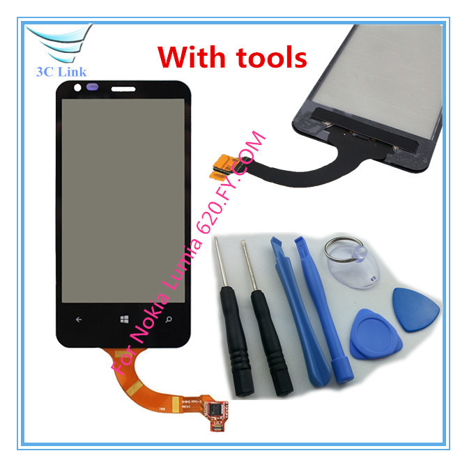 Original With tools TOUCH SCREEN For Nokia Lumia 620 N620 Touch Screen Digitizer free shipping