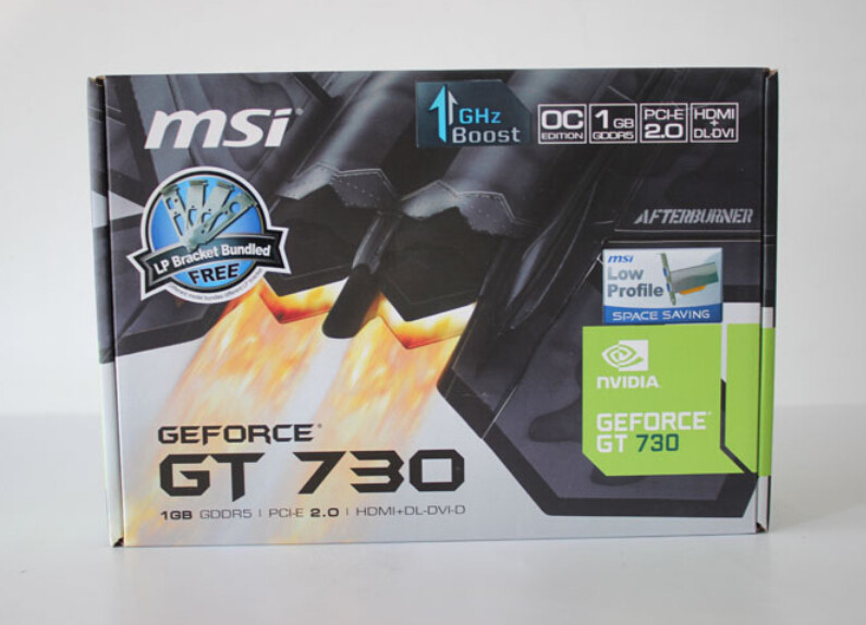 Buy New Graphics card for MSI N730K-1GD5LP/OC V1 GT730 1G DDR5 video cards to send short knife baffle free shipping cheap