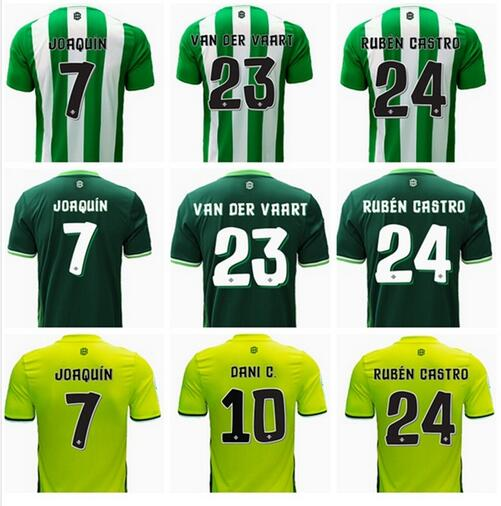 real betis 2016 2017 New 16 17 home and away real betis jersey real betis shirt real betis football shirt in stock Free shipping(China (Mainland))