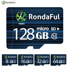 Buy 1pcs RondaFul 64GB Class 10 8GB 16GB Phone micro sd card 32GB 128GB C10 Flash TF Card Memory Card Camera High Speed for $6.16 in AliExpress store