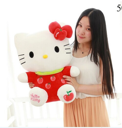 big cute fruits kitty toy stuffed apple plush red hello perfect gift 55cm - lovely house store