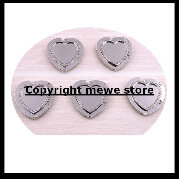 High Quality Blank Purse Hook bag Hanger Handbag Holder-Blank No Design Heart Shape Purse Hook(China (Mainland))