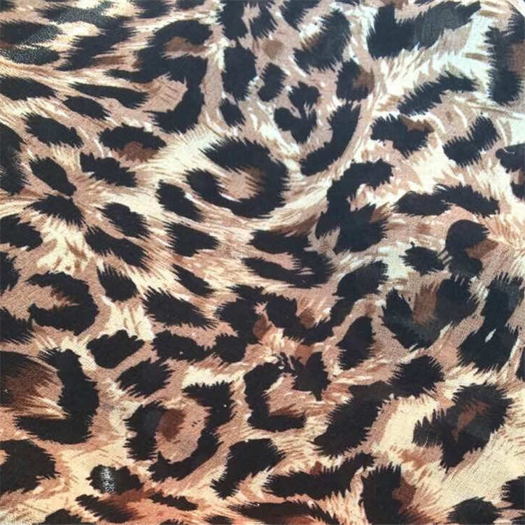 1 meter high grade chiffon fabric tecido lepoard chiffon fabric for skirts scarves decoration diy cloth tissues SQ109A(China (Mainland))