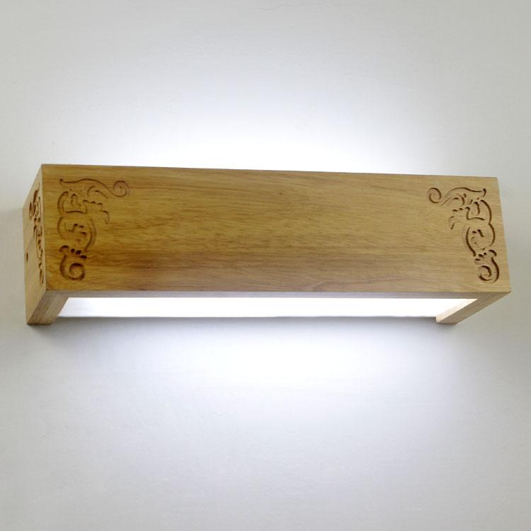 Breve lampada da parete moderno legno lampada da parete bed illuminazione dello specchio lampada - Specchio che si rompe da solo ...