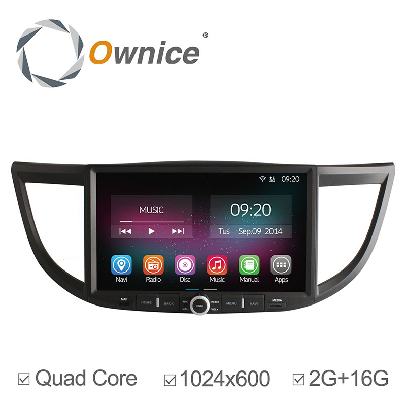 "Ownice 10.2"" Quad Core Car Multimedia Video Player without DVD Android 4.4 GPS Navigation Wifi Radio For Honda CR-V 2012-2014(China (Mainland))"