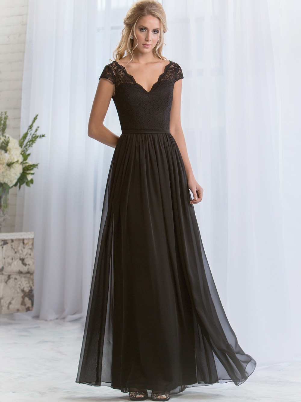 New cheap wedding dresses black bridesmaid dresses long black bridesmaid dresses long ombrellifo Choice Image