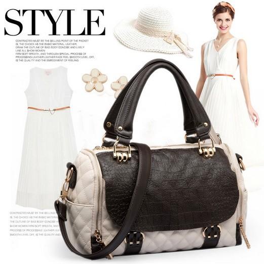 Livraison gratuite 2015 l'arrivée de nouveaux célèbre designer de qualité en cuir véritable sacs à main des femmes desigual moderne sac crocodile luxe b25(China (Mainland))