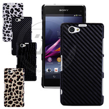 Buy Luxury Leopard Crocodile Carbon Fiber Texture Hard Shell Back Case Cover Skin Sony Xperia Z1 Compact D5503 Z1 Mini M51W for $3.99 in AliExpress store
