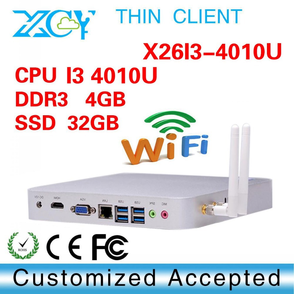 very small but powerfull PC core i3 4010u 4gb ram College Computer Home Theater PCs ncomputing l230 thin client Ultra Low Power(China (Mainland))