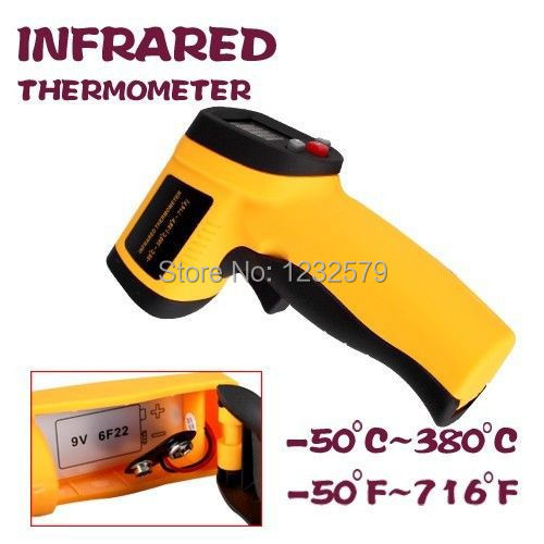 Handheld Non-Contact Laser Point Temperature Gun Body Surface Forehead Infrared Digital IR Thermometer GM300 -50~380 Degrees(China (Mainland))