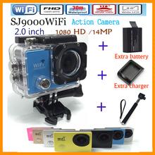 new SJ9000 gopro style 4K HD sports camera camcorder 1080P 2.0 inch 170-degree ultra-wide 30M waterproof WIFI foutdoors camera