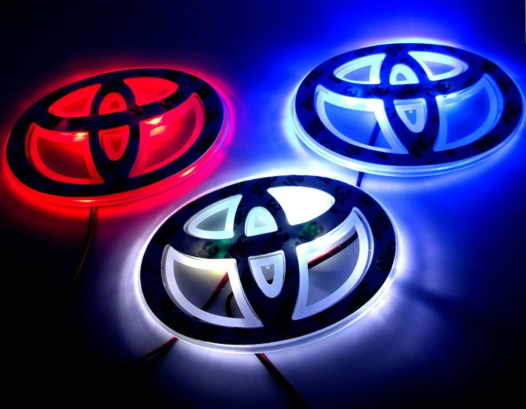 Car Logo Light For Toyota Rav4 Car Styling Badge Lightings