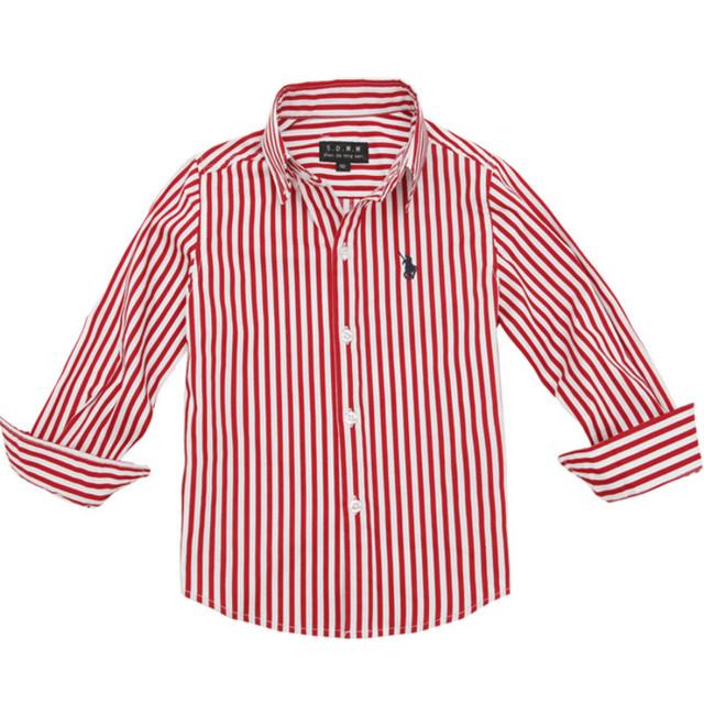 3-14 Лет весна осень марка дизайн мальчиков рубашка 100% хлопок дети Полосатый блузка рубашки детская Мода Европейский Американский стиль