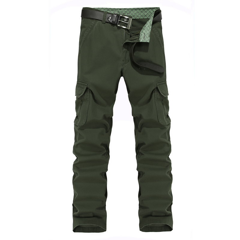 2015 Brand NIAN JEEP Men's Pants Autumn Spring Casual Pants Outdoor Cargo High Quality Cotton Mens Straight Pants Plus Size 44