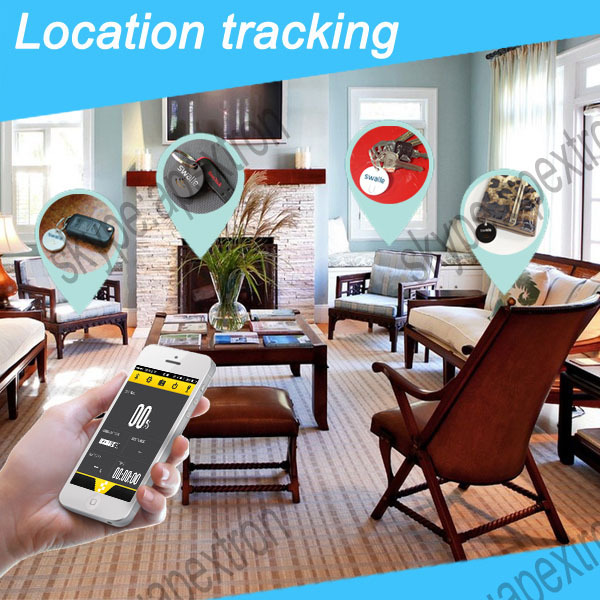 New List Tracking Devices Rohs Smart Bluetooth GPS Alarm Wallet Car Anti Lost Key Pet Tracker Sound LED Light Keychain(China (Mainland))