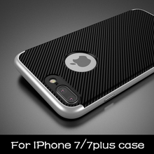 Buy Apple iPhone 7 7 Plus Luxury Phone Cases PC frame+silicone TPU hybrid Phone back Cover Coque iPhone 7/7plus phone shell for $3.44 in AliExpress store