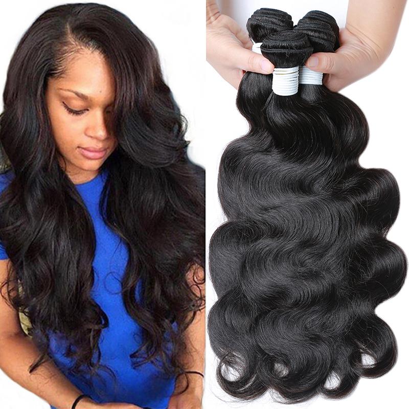 8a grade virgin unprocessed human hair brazilian body wave 4 bundles Brazilian virgin hair body wave wholesale lot mix Ali USA(China (Mainland))