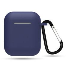 Mini funda de silicona suave para Apple Airpods funda a prueba de golpes para Apple AirPods fundas de auriculares para Air Pods funda protectora(China)