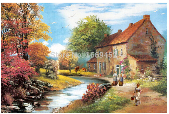 House of rural life cross stitch kits 5d diamond painting thread Kits for embroidery dmc beadwork crochet hook pictures mosaic(China (Mainland))