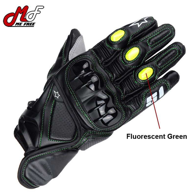 Top Quality Hot Brand S1 Racing Sport Gloves Guantes Motorcycle Gloves Leather Black Motocross Motorbike Guanti Luva Para Moto(China (Mainland))