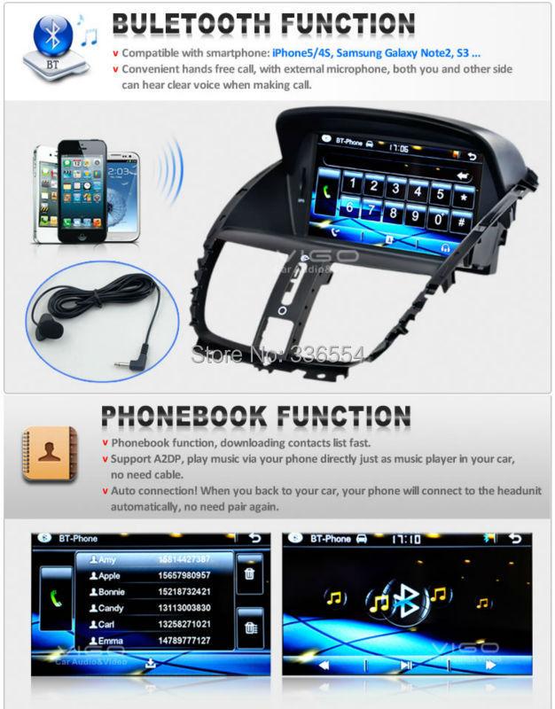 Car dvd player Peugeot 207 sw cc 2007 2014 GPS Navigation Radio stereo RDS Bluetooth iPod