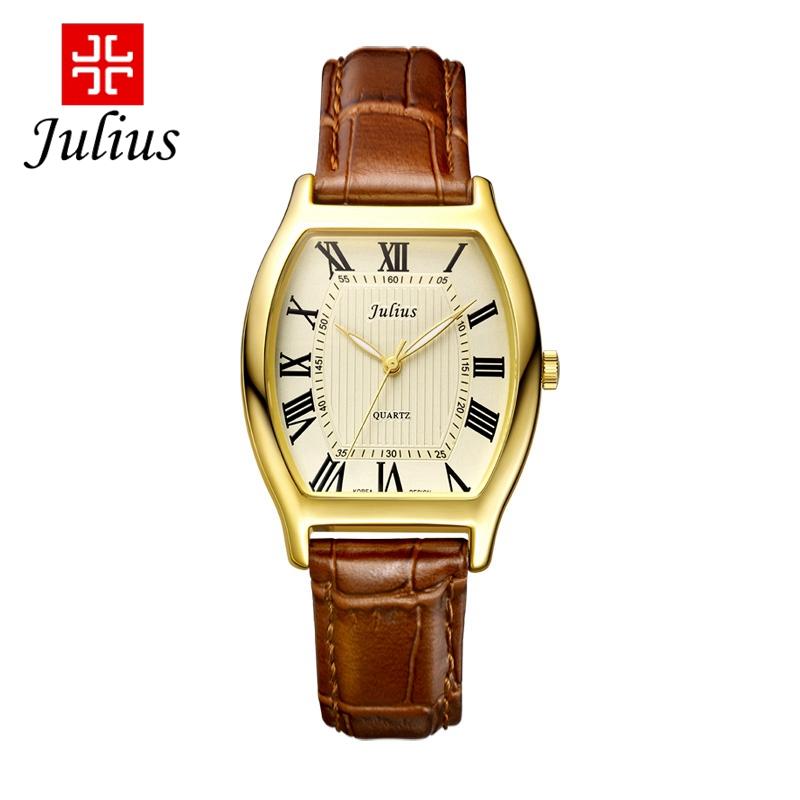 Гаджет  Hot women men antique Roman wristwatch leather wrist watches fashion casual Miyota quartz watch Julius 703 clocks Free shipping None Часы