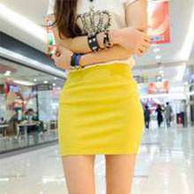 2015 New Fashion Women Casual Empire Packet Buttock Short Skirts Sexy Lady Solid Mini Skirt Cheap Clothes China(China (Mainland))