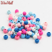 Buy 8mm Wooden Beads 200Pcs Wood Findings Baby DIY Crafts Kids Toys Teething Necklace Pacifier Clip Spacer Beading Bead for $1.78 in AliExpress store