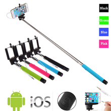 Z07-5S 100CM Extendable Handheld Selfie Monopod Selfie Stick With Remote Shutter Button 3.5mm Cable For iOS Android Phone